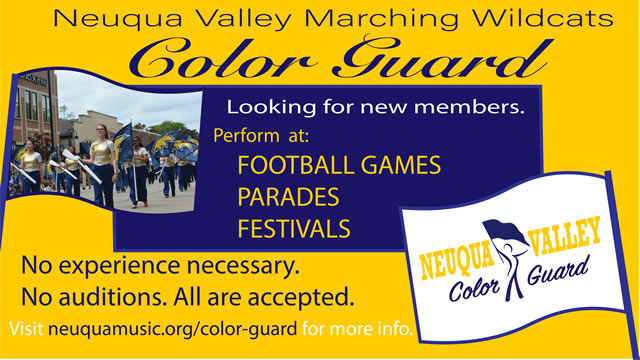 color guard flyer
